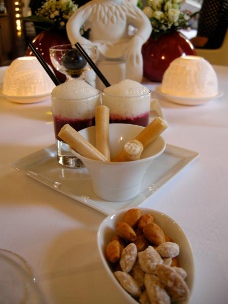 Gazpacho, croustillants et amandes