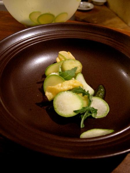 Courgette soup (pre-pouring)